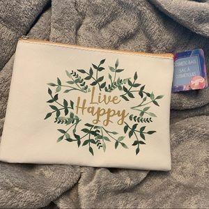 Live Happy Cute Cosmetics Bag